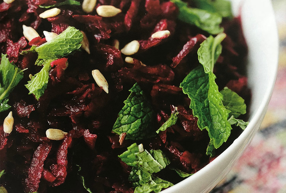 Raw Beet Slaw with Lemon and Mint