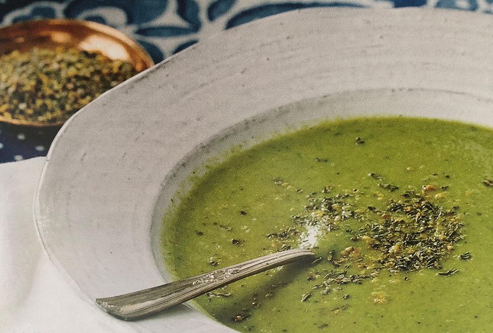 Asparagus & White Bean Soup